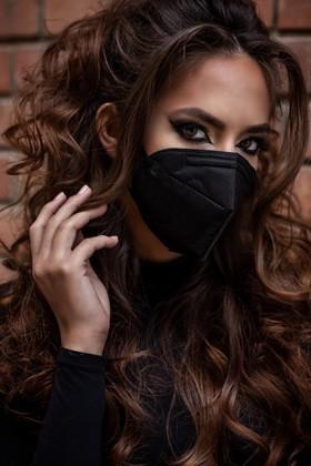 Legal Beauty KN95/FFP2 7 rétegű maszk - szelep nélküli - fekete - 5 db - Fekete