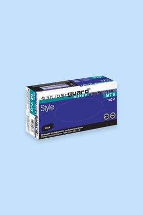Semperguard prémium minőségű CE 2777 nitril kesztyű - 90 db - Fekete - XL