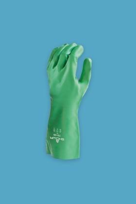 SHOWA 731 nitril vegyszerálló, biológiailag lebomló kesztyű - 24 db - XL - Zöld