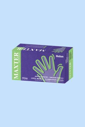 Maxter orvosi, enyhén púderezett, latex vizsgálókesztyű - 100 db - Fehér - XL