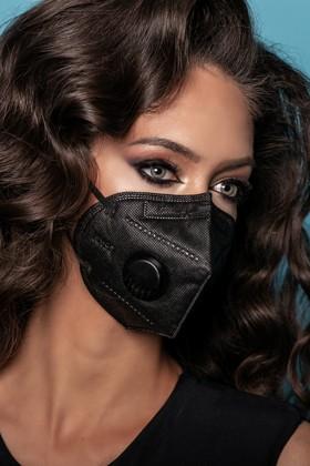 Legal Beauty KN95/FFP2 7 rétegű maszk - szelepes - fekete - 5 db - Fekete