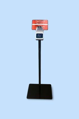 Elysium fali lázmérő - Fekete állvánnyal - 1 db - Fehér