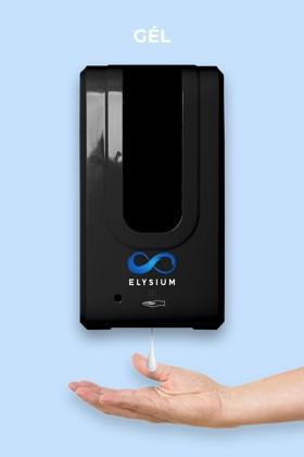 Elysium professzionális, érintésmentes, 1200 ml-es adagoló - Gél - Állvány nélkül - Fekete