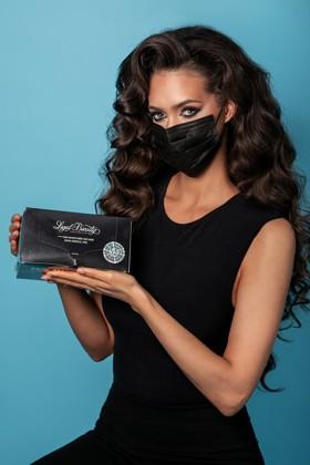 Legal Beauty 4 rétegű egészségügyi arcmaszk - fekete - 50 db - Felnőtt