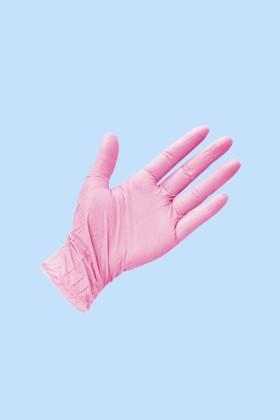 Prémium Nitril CE 0321 rózsaszín kesztyű - 200 db - XS - Rózsaszín