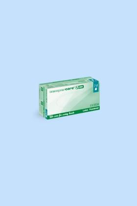 Sempercare fehér púderes latex kesztyű - L - 100 db - Fehér