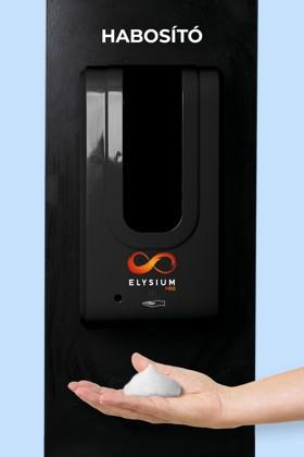 Elysium Pro professzionális, érintésmentes, 1200 ml-es adagoló - Habosító szappan - Fekete állvánnyal - Fekete