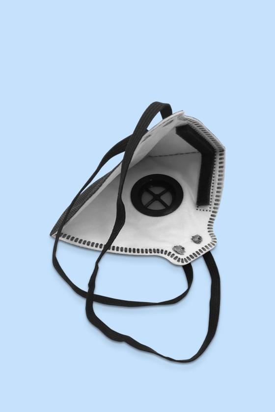 Zmask prémium FFP2 - FFP2 maszk - 10 db - Fekete - Szelepes