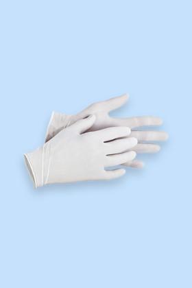 Prémium minőségű latex kesztyű - zacskóban - Latex kesztyű - 60 db - Fehér - M