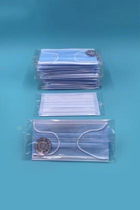 Háromrétegű egészségügyi arcmaszk - egyesével csomagolva - 50 db