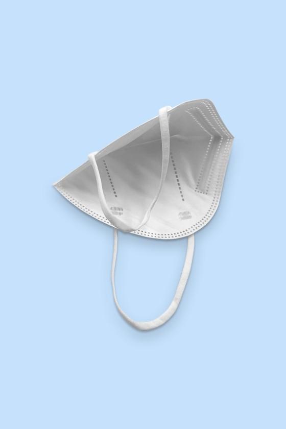 Xu Jian FFP2 CE 2163 FFP2 szelep nélküli fehér maszk - 20 db - FFP2 maszk - 20 db - Fehér - Szelep nélküli