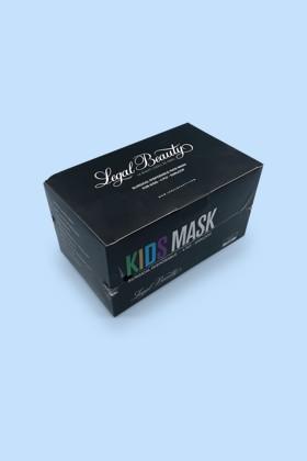 Legal Beauty 4 rétegű fekete gyerekmaszk - 50 db - Fekete - Gyermek
