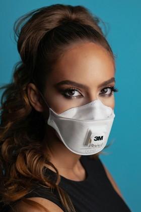 3M Aura 9322+ FFP2 légzésvédő maszk - szelepes - 5 db - Fehér