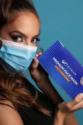 Elysium 4 rétegű prémium maszk - 50 db - Kék