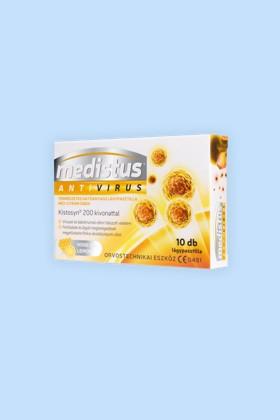 Medistus Antivirus lágypasztilla 10 szemes - Mézes-citromos - 1 doboz