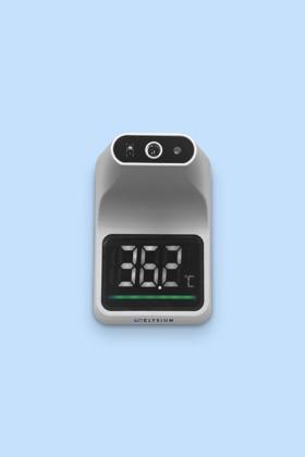 Elysium fali lázmérő - Állvány nélkül - 1 db - Fehér