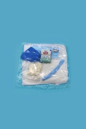Prémium Látogatói csomag - Arcmaszk, köpeny, hajháló, lábzsák, gumikesztyű, kézfertőtlenítő kendő