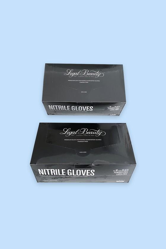 Prémium minőségű Legal Beauty nitril kesztyű - fekete - 60 db - Nitril kesztyű - Fekete - M