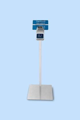 Elysium fali lázmérő - Fehér állvánnyal - 1 db - Fehér