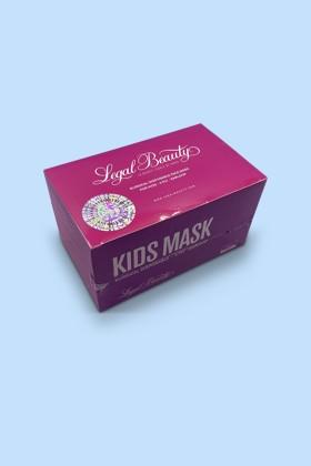 Legal Beauty 4 rétegű rózsaszín gyerekmaszk - 50 db - Rózsaszín - Gyermek