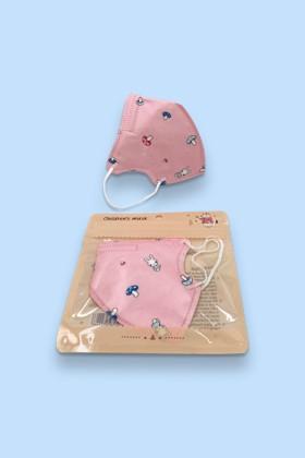 FFP2 (N95/KN95) 5 rétegű gyerekmaszk - FFP2 gyerekmaszk - 2 db - Pink - Szelep nélküli