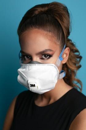 3M 8825+ FFP2 prémium részecskeszűrő maszk - szelepes - 5 db - Fehér